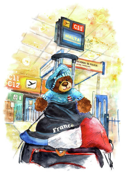 Painting - Truffle Mcfurry On His Way To Malta by Miki De Goodaboom