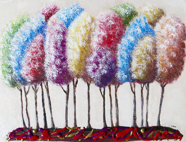Painting - Truffula Forest by Teresa Wing