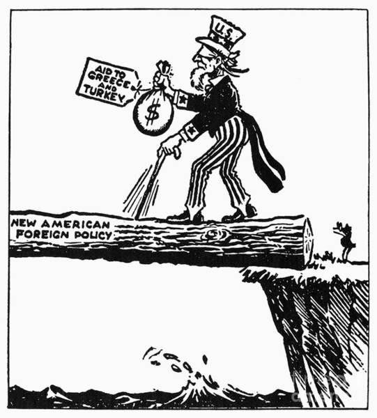 Photograph - Truman Doctrine Cartoon by Granger