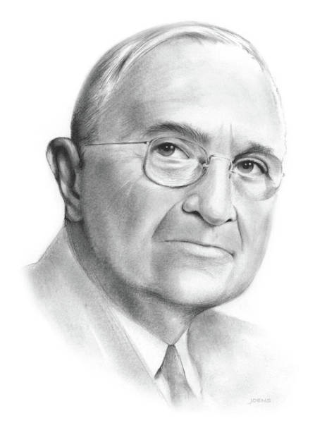 Wall Art - Drawing - Truman by Greg Joens