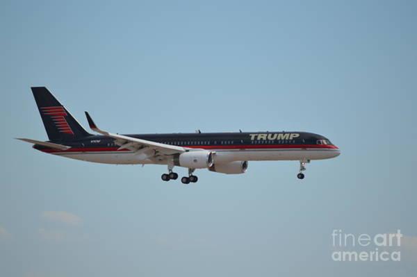 Gop Photograph - Trump 757 Arriving In Phoenix Arizona 0010 by Matthew Klein