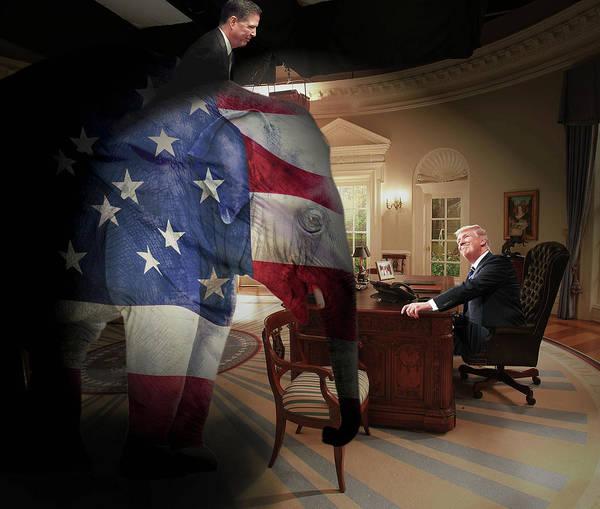 Trump Digital Art - Trump And Comey by Yury Malkov