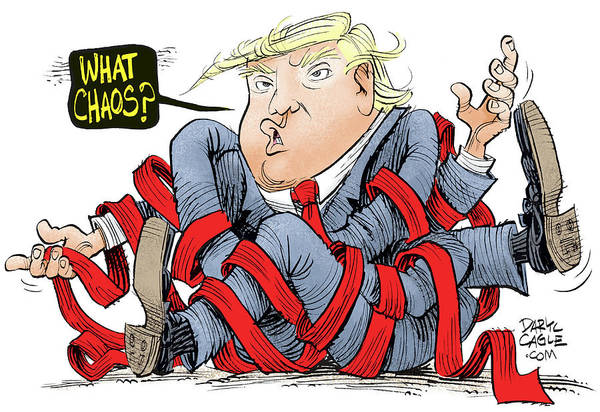 Drawing - Trump Chaos by Daryl Cagle