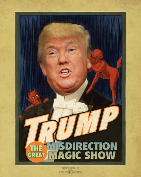 Painting - Trump Magic Show by Tim Nyberg