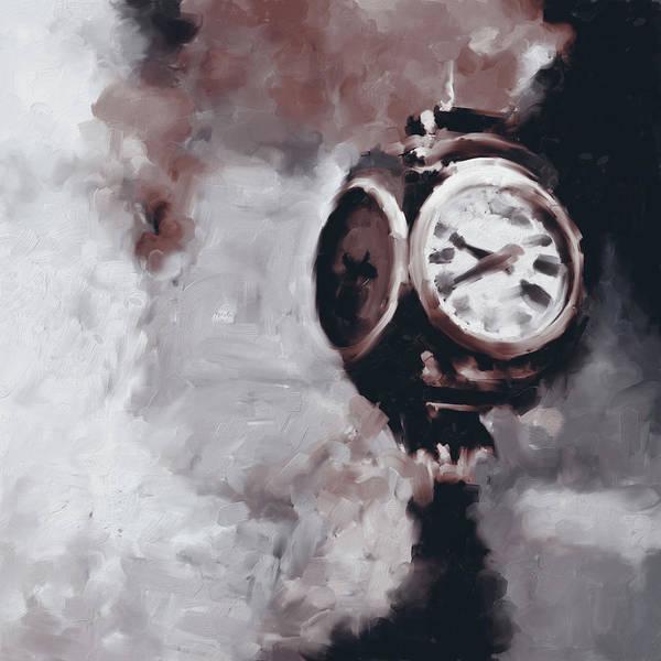 Chinatown Painting - Trump Tower Clock Ny 563 4 by Mawra Tahreem