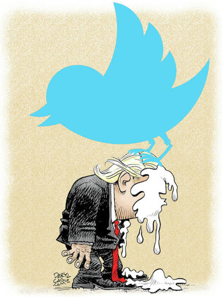 Drawing - Trump Twitter Poop by Daryl Cagle