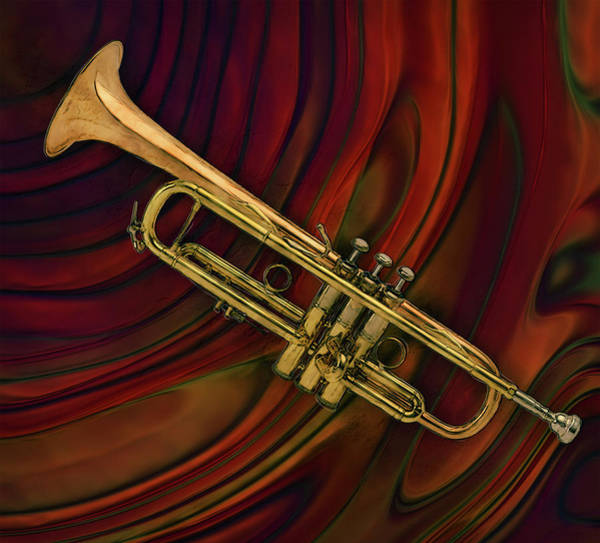Hard Bop Wall Art - Painting - Trumpet 2 by Jack Zulli
