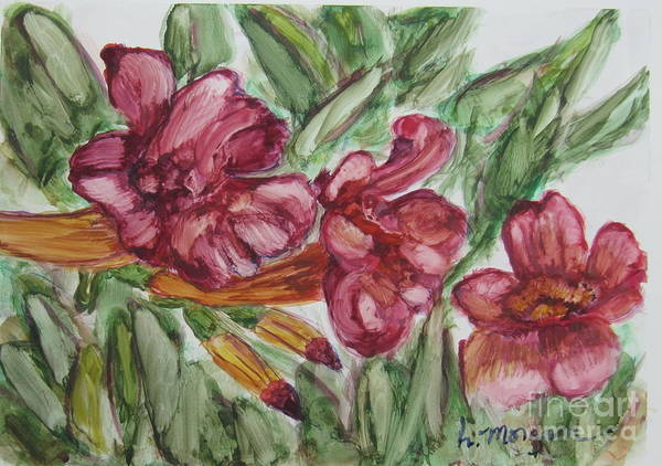 Painting - Trumpet Flower Trio by Laurie Morgan