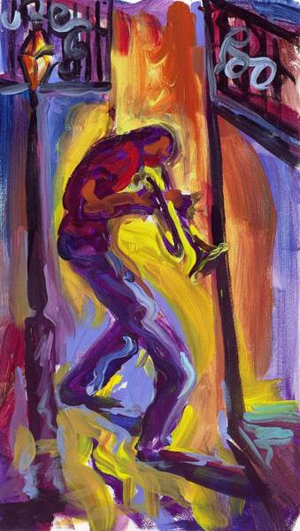 Wall Art - Painting - Trumpet Man by Saundra Bolen Samuel