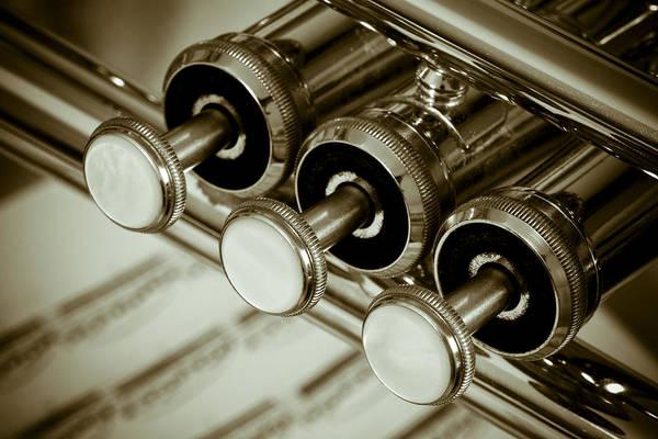 Sheet Music Photograph - Trumpet Still Life by Frank Tschakert