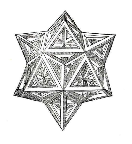 Drawing - Truncated And Elevated Hexahedron With Open Faces by Leonardo da Vinci