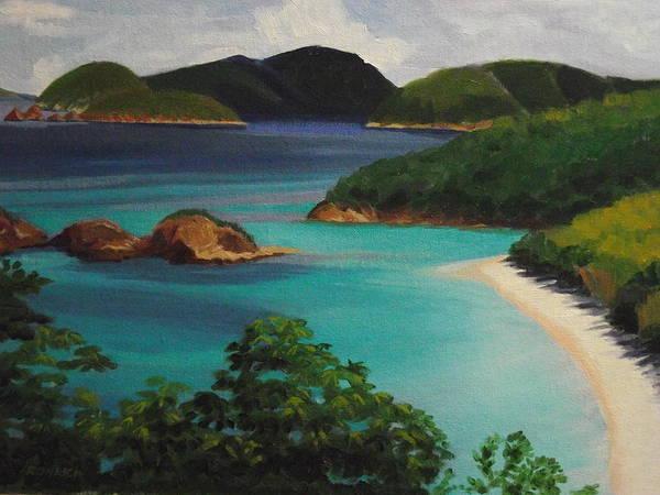 Us Virgin Islands Painting - Trunk Bay National Park by Robert Rohrich
