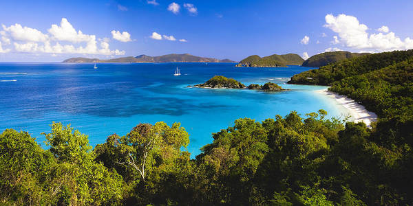 Sandy Beach Photograph - Trunk Bay Panorama by George Oze