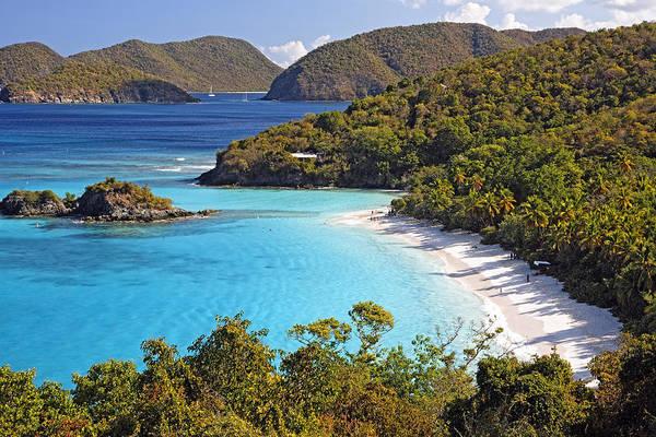 Sandy Beach Photograph - Trunk Bay St John Us Virgin Islands by George Oze
