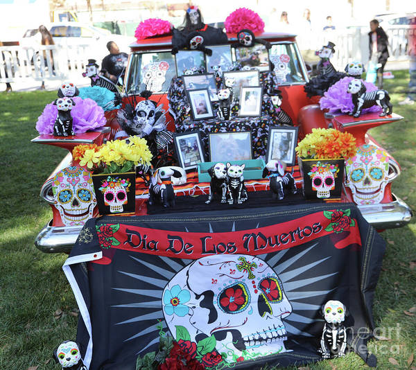 Kahlo Photograph - Trunk El Camino Day Dead  by Chuck Kuhn