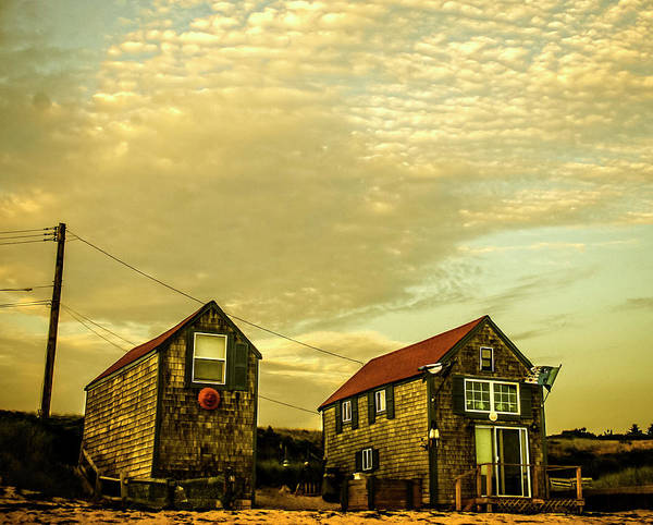 Photograph - Truro Beach Houses by Frank Winters