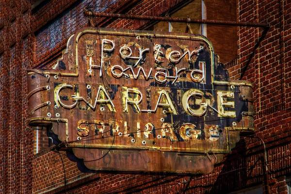 Neon Sign Photograph - Trust In Rust by Linda Unger