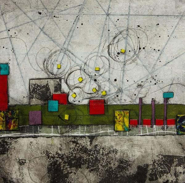 Triangle Mixed Media - Trust Walk by Laura  Lein-Svencner