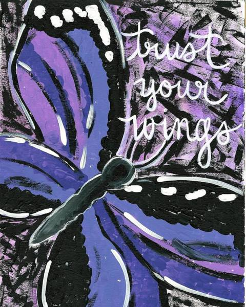 Painting - Trust Your Wings by Monica Martin