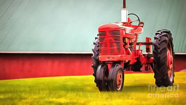 Farmall Photograph - Trusty Old Red by Edward Fielding