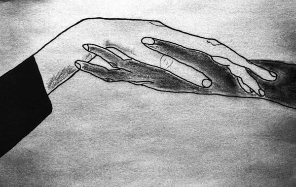Caucasian Drawing - Try A Little Tenderness by Tom Zukauskas