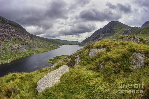Photograph - Tryfan And Lake Ogwen by Ian Mitchell