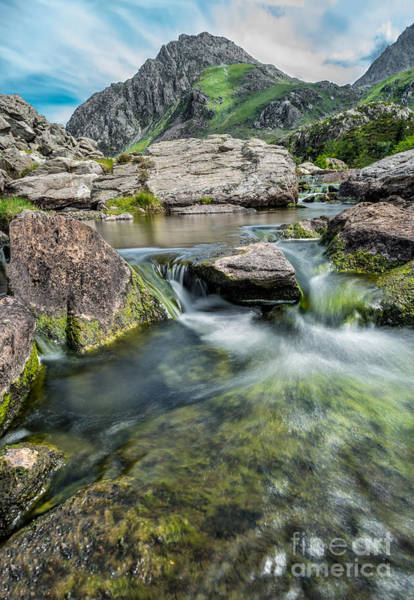 Riverside Photograph - Tryfan In The Ogwen Valley by Adrian Evans
