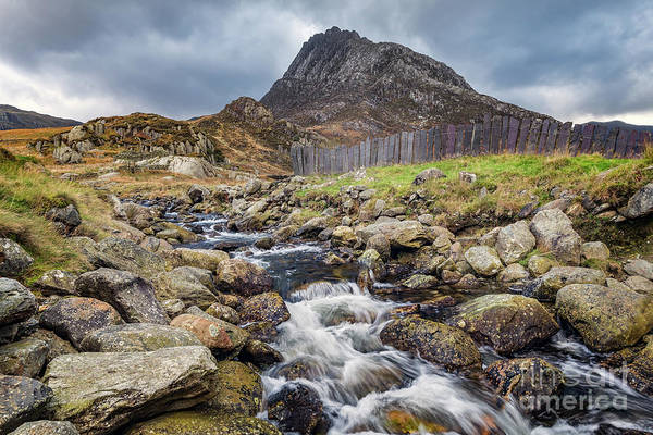 Photograph - Tryfan Mountain Rapids Snowdonia  by Adrian Evans