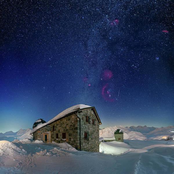 Photograph - Tschuggen Observatory by Ralf Rohner