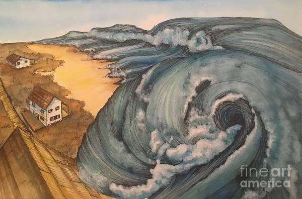 Painting -  Tsunami  by Mastiff Studios