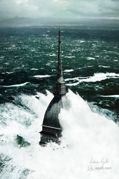 Ocean Scape Digital Art - Tsunami by Andrea Gatti