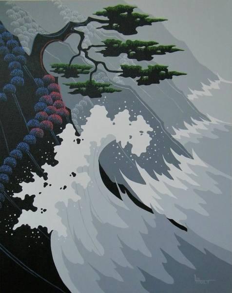 Tsunami Painting - Tsunami by Larissa Holt