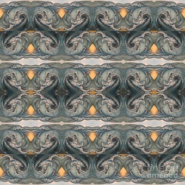 Digital Art - Tsunami Mirror Pattern by Mastiff Studios