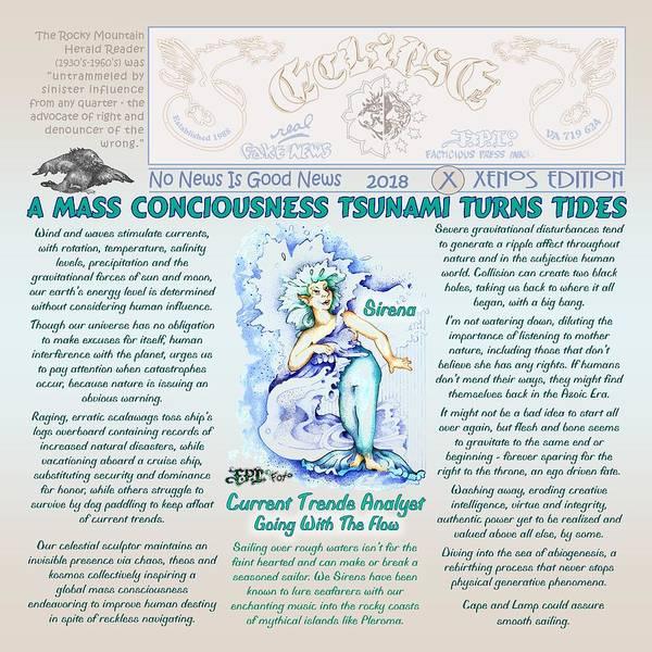 Digital Art - Tsunami Of Current Trends X by Dawn Sperry