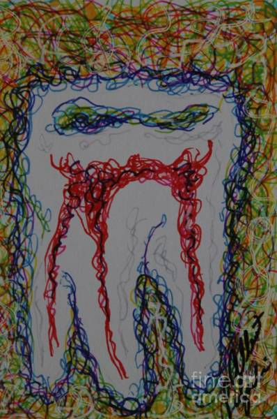 Nerves Drawing - Ttooothh by Albert Podgurski