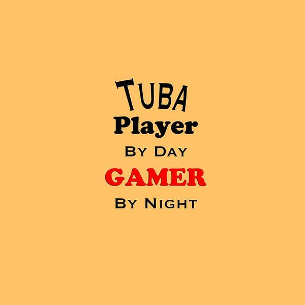 Photograph - Tuba Player By Day Gamer By Night 5631.02 by M K Miller