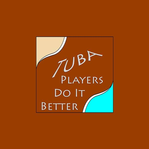 Photograph - Tuba Players Do It Better 5655.02 by M K Miller