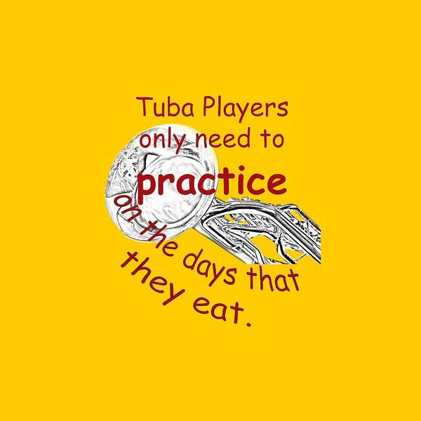Photograph - Tubas Practice When They Eat by M K Miller