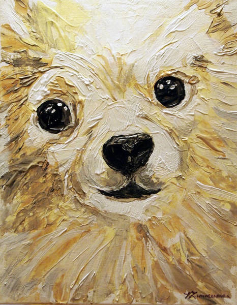 Service Dog Painting - Tucker Close Up by Veronica Zimmerman