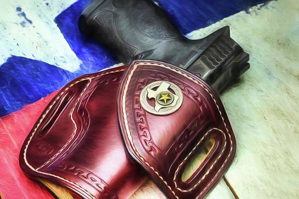 Wesson Photograph - Tucker Gun Leather A Work Of Art by JC Findley