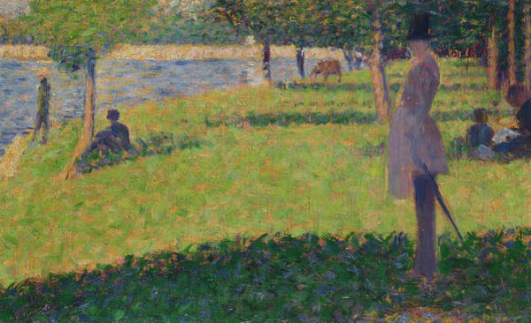 Waterway Painting - tudy for La Grande Jatte by Georges Seurat