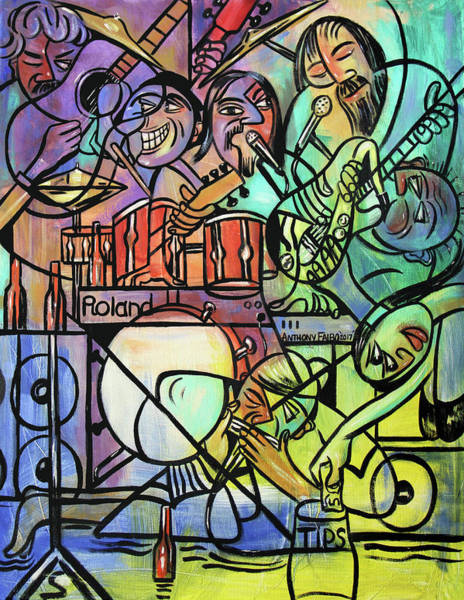 Painting - Tuesday Night Blues Jam by Anthony Falbo