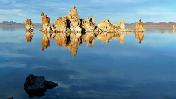 Photograph - Tufa Reflection At Mono Lake by Tranquil Light Photography