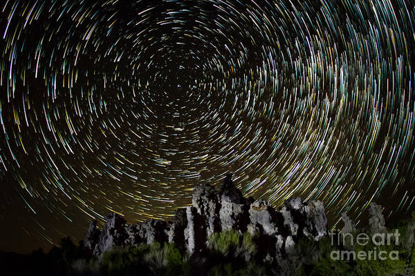 Photograph - Tufa Star Trail by Mark Jackson