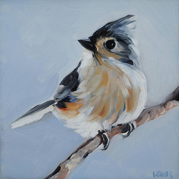 Titmouse Painting - Tufted Titmouse by Anne Lewis