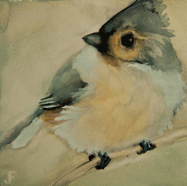 Painting - Tufted Titmouse by Jani Freimann