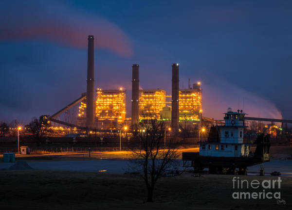 Muskogee Photograph - Tug And Power Plant by Imagery by Charly