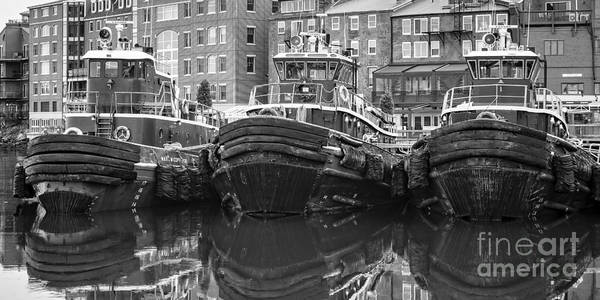 Tug Boat Photograph - Tug Boat Alley Portsmouth New Hampshire by Edward Fielding