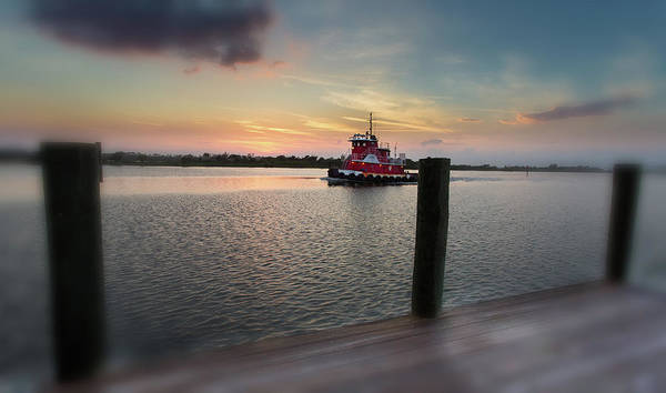 Tug Boat Sunset Art Print