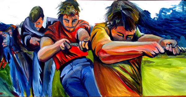 Painting - Tug Of War by John Jr Gholson